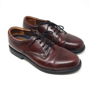 DOCKERS Leather Brown Lace Up Oxfords Dress Shoe